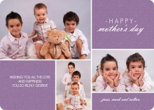 Lavender and Burlap Mothers Day Card