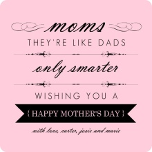 Pink and Black Elegant Mothers Day Card