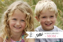 World's Greatest Mom Photo Mothers Day Card