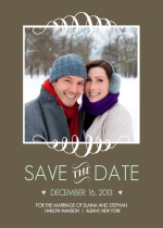 Mint and Brown Soft Stripes  Save the Date