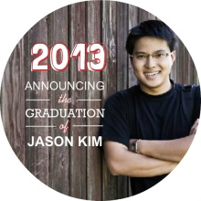 Red Outline  Graduation Announcement