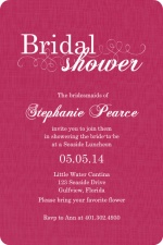 Pink Flourish Bridal Shower Invite