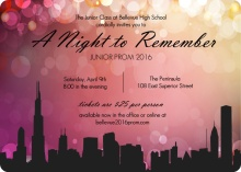 City Scape Prom Night Invitations