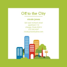 Green Cityscape Moving Announcement