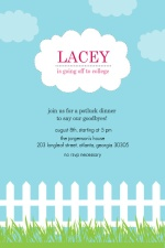 Blue Skies Coming My Way Going Away Party Invitation