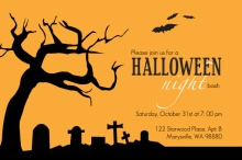 Scary Cemetery Halloween Party Invitation