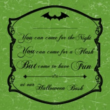 Elegant Bats Halloween Party Invitation
