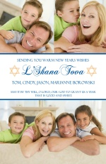 Star of David Photo Rosh Hashanah Card