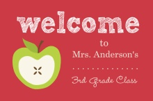 Red and Green Apple Teacher Card