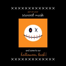 Scary Mask Halloween Party Invite