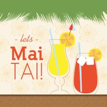 Let's Mai Tai Tropical Drink Luau Invite