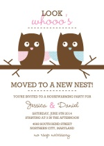 Whimsical Owls  Housewarming Invitation
