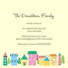 Colorful Town Housewarming Party Invitation