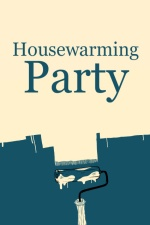 Blue Paint Housewarming Party Invitation