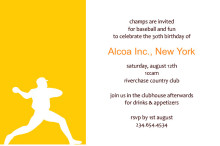 Baseball Corporate Anniversary Invitation