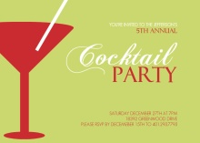 Martini Cocktail Holiday Party Invitation