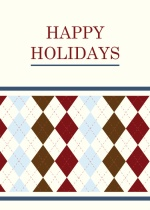 Argyle Pattern Business Holiday Greetings