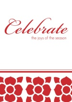 Red Poinsettia Business Holiday Greeting Card