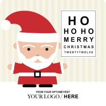Santa Eye Exam Business Holiday Card