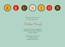 Retro Blue Family Reunion Invitation