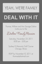 Funny Family Reunion Invitation