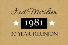 Black Tie 30 Year Class Reunion Invitation