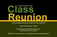 Bold Class Reunion Invite