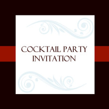 Classic Red Cocktail Party Invite