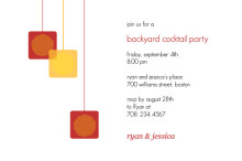 Backyard Cocktail Party Invite