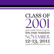 Bold Typography Class Reunion Invitation