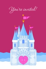 Royal Princess Castle Birthday Invite