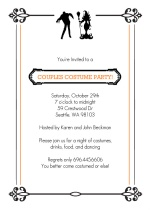 Couples Costume Party Halloween Card