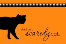 Scaredy Cat Halloween Party Invitation