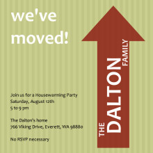 We've Moved Arrow Party Invitation