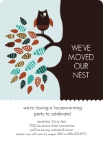 Cute Owl and Tree Housewarming Party Invitation