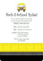 Back to School Rules!  Party Invitation