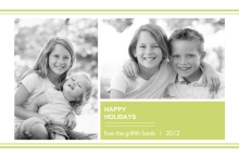 Contemporary Green Holiday Photo Card