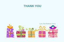 Colorful Gifts Thank You Card