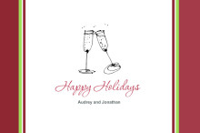 Holiday Drinks Thank You Card