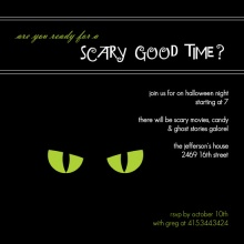 Cat Eyes Halloween Party Invitation