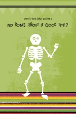 Skeleton Bones Halloween Party Invitation