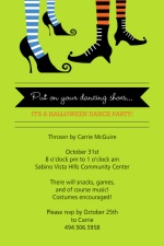 Halloween Dance Party Invitation