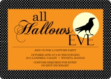 All Hallows Eve Crow Halloween Party Invitation