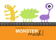 Lil Monsters Bash Halloween Party Invitation