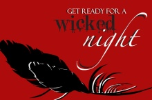 Wicked Feather Halloween Party Invitation
