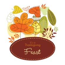 Fall Leaves Happy Thanksgiving Dinner Invite