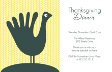 Happy Thanksgiving Turkey Invitation