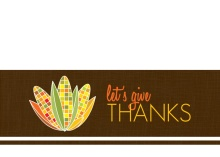 Corn Stalk Thanksgiving Invitation