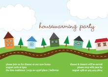Trees and Houses Housewarming Party Invitation