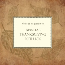 Leaf Impressions Thanksgiving Invitation